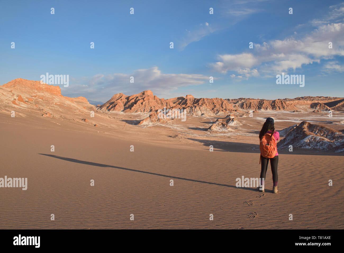 Le sel, le sable, et desertscape dans la vallée de la Lune, San Pedro de Atacama, Chili Banque D'Images