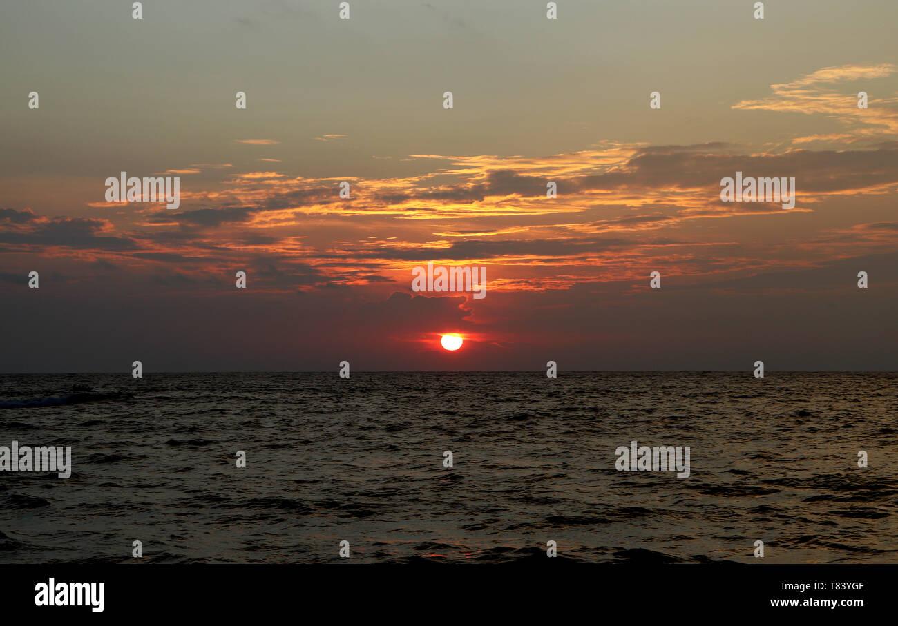 Sunset Point Vue paysage Banque D'Images