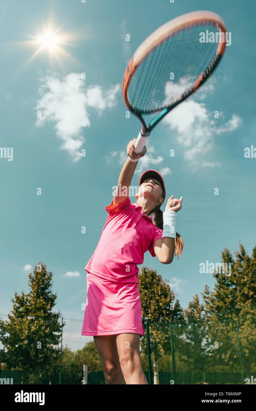 La formation de tennis Banque D'Images