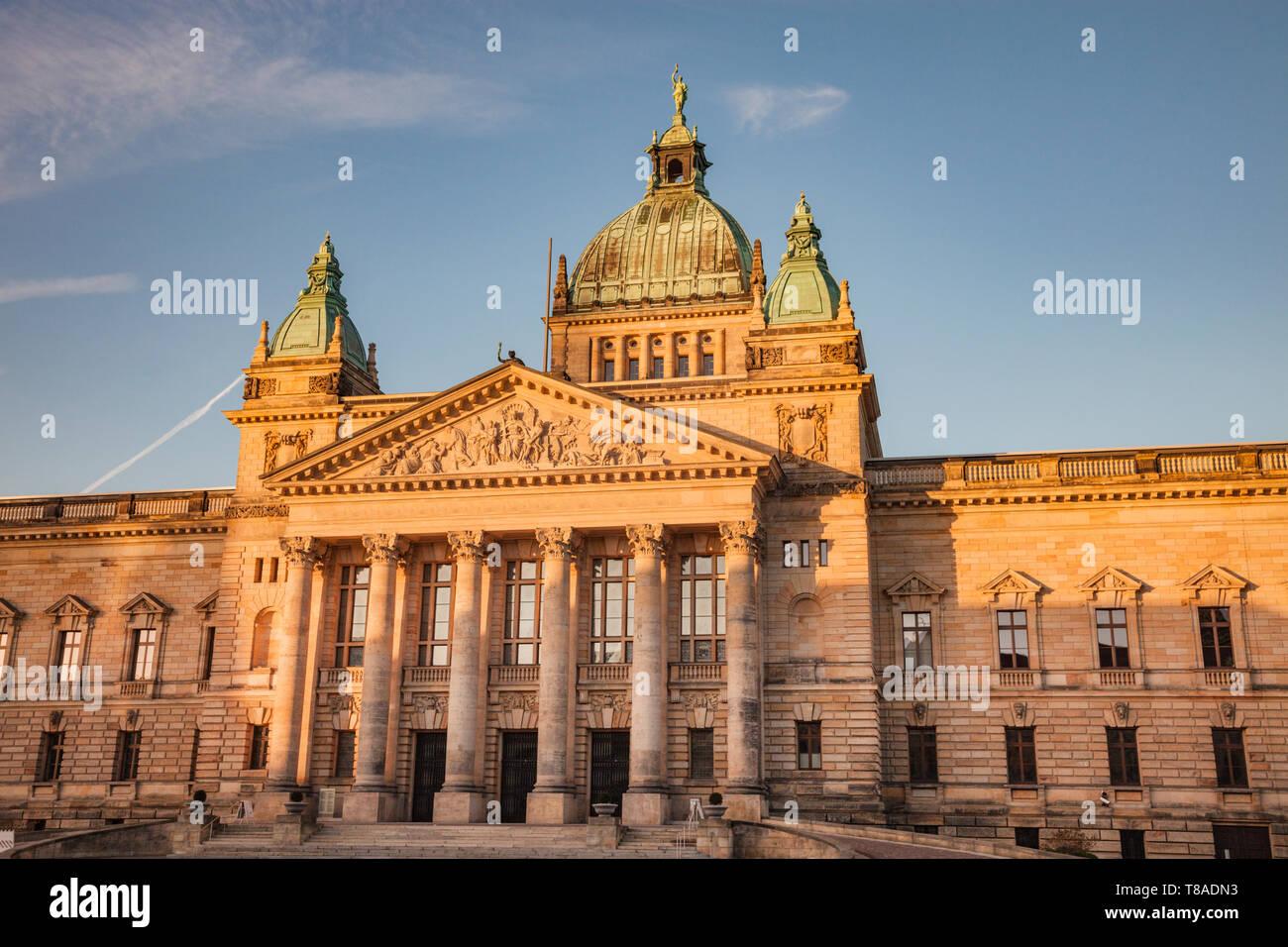 Le Tribunal administratif fédéral de Leipzig. Leipzig, Saxe, Allemagne. Banque D'Images