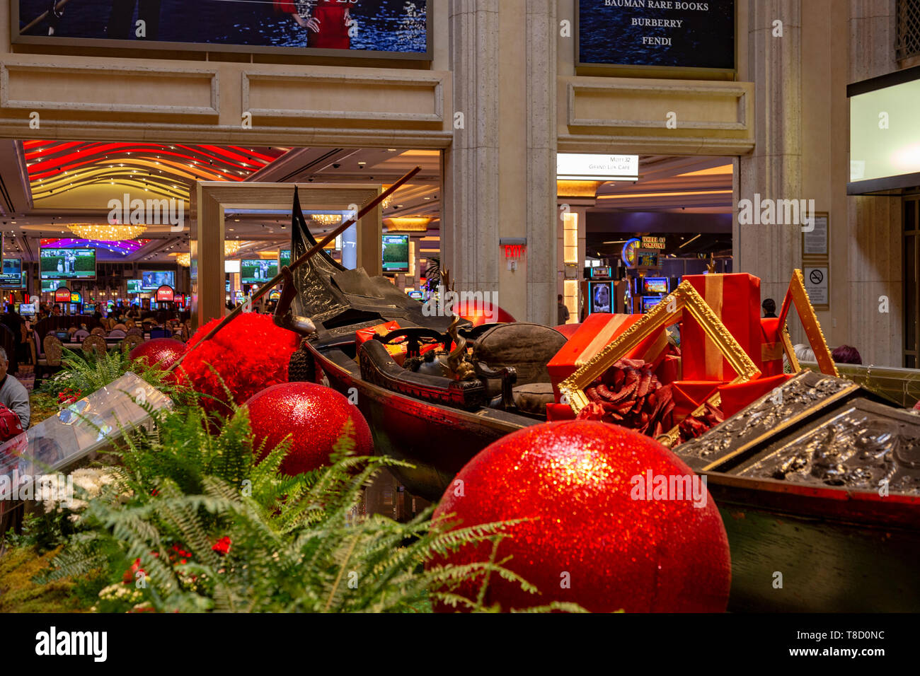 Casino Venetian, Vegas, Nevada, États-Unis Photo Stock