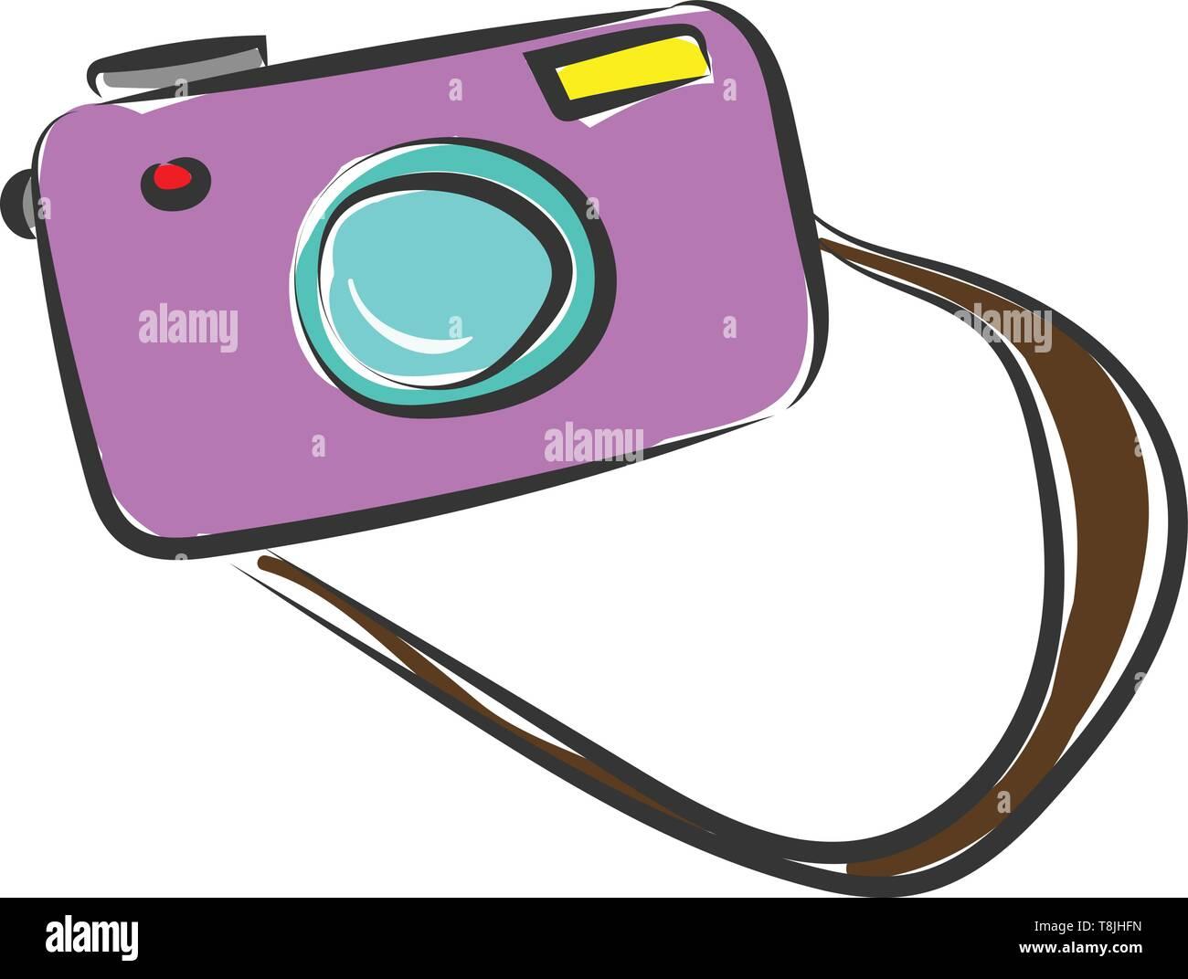 Schema D Un Appareil Photo Avec Flash Et Violet Bracelet Brun