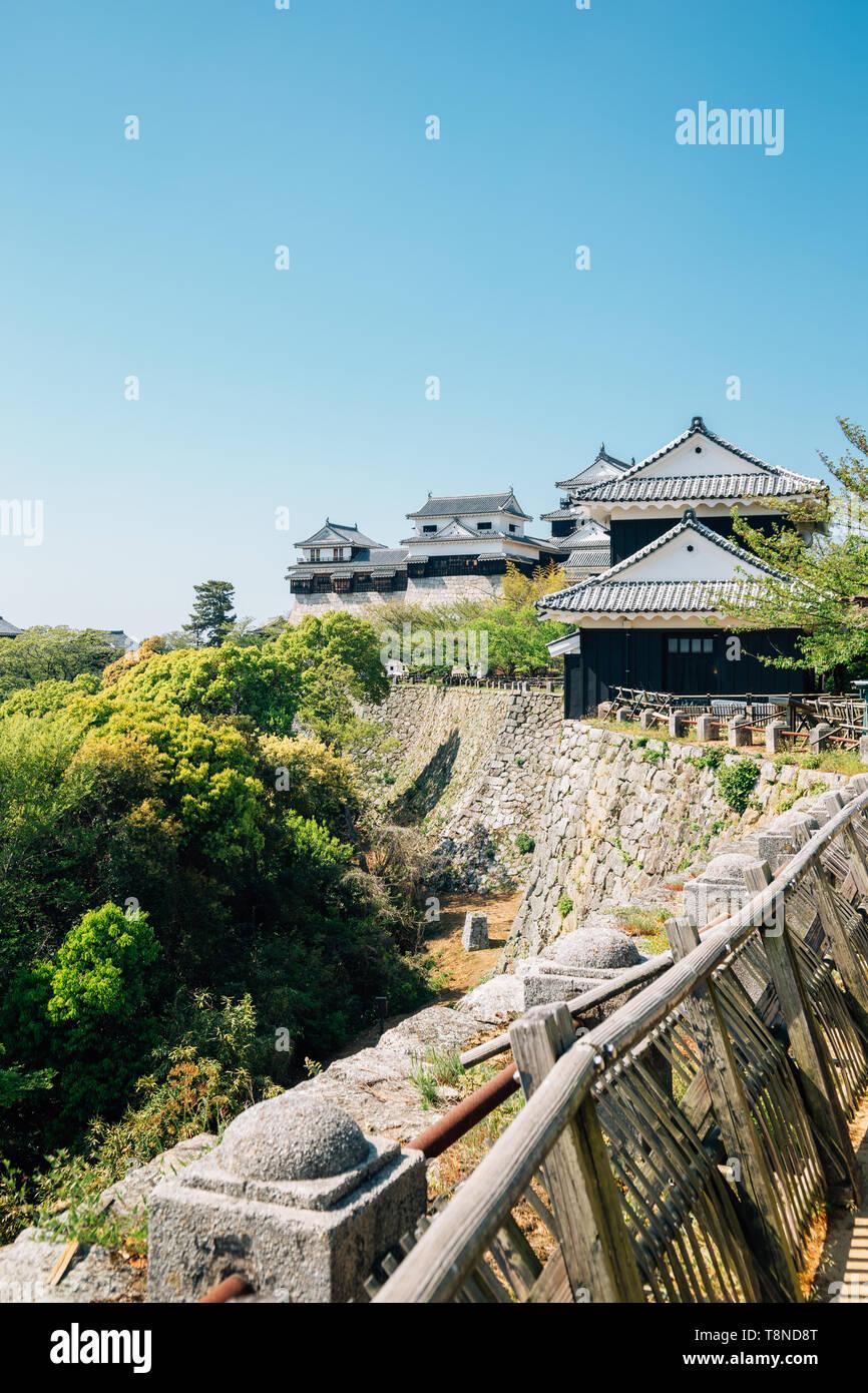 Matsuyama Castle à Matsuyama, Shikoku, Japon Photo Stock