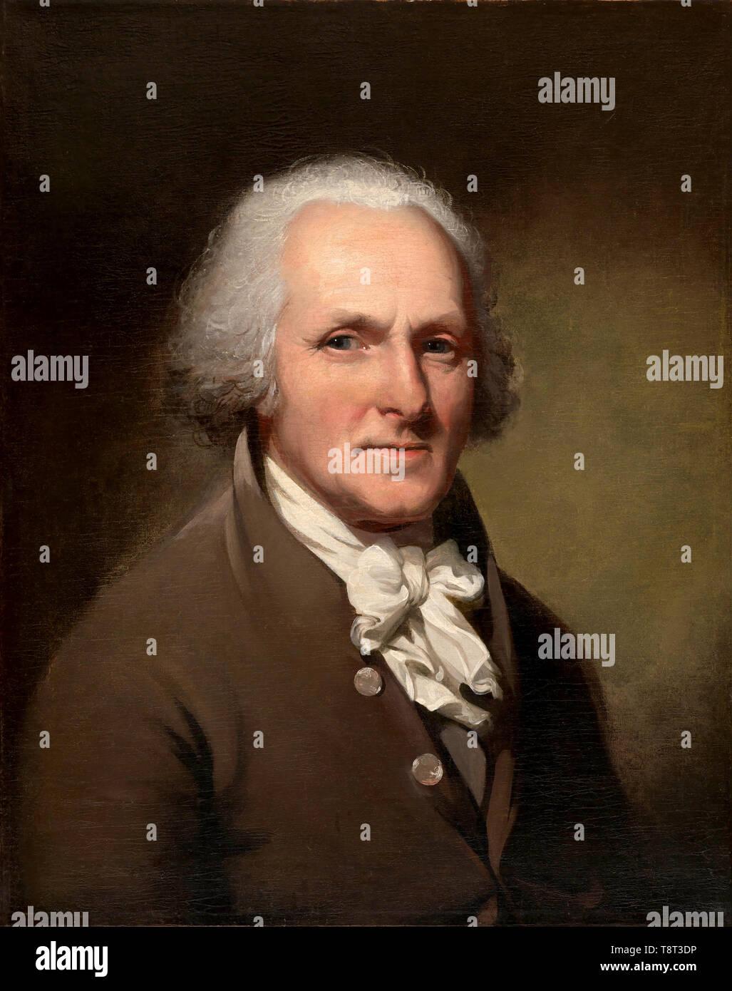 Charles Willson Peale (1741 - 1827), peintre américain, Autoportrait Banque D'Images
