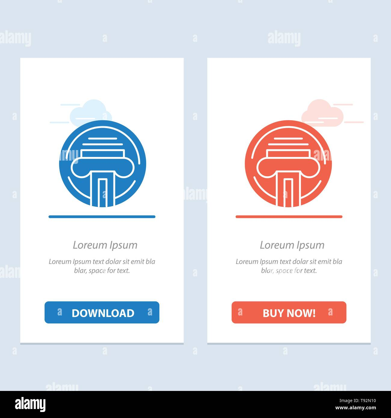 Type d'imprimante, machine à écrire, l'écrivain, le bleu et le rouge Téléchargez et achetez Widget web Modèle de carte Illustration de Vecteur