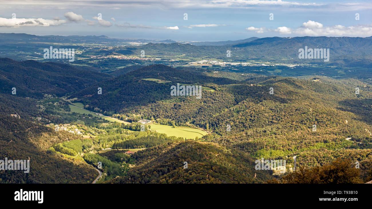 Vue paysage du massif du Montseny, Catalogne Banque D'Images