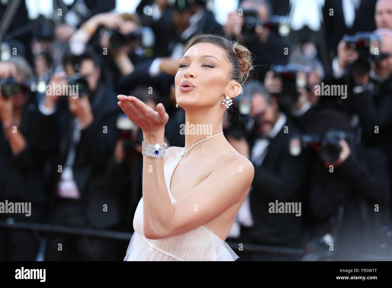 CANNES, FRANCE - 16 MAI: Bella Hadid assiste à la projection de 'Rocket Man' au cours de la 72e Festival de Cannes (Credit: Mickael Chavet/Projet Daybreak/Alamy Live News) Banque D'Images