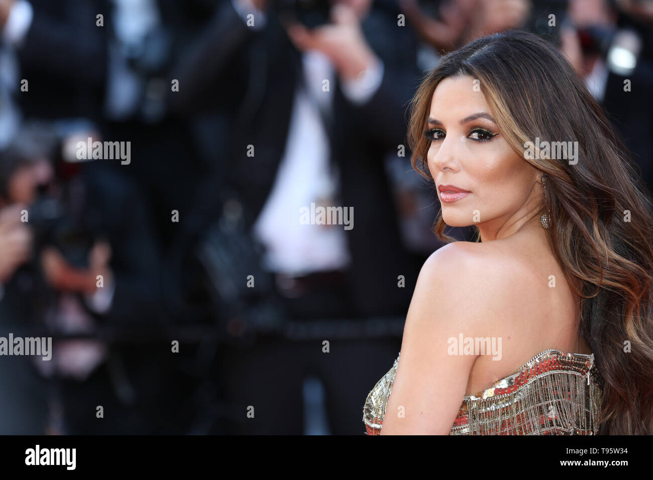 "CANNES, FRANCE - 16 MAI : Eva Longoria assiste à la projection de ""Rocket Man"" au cours de la 72e Festival de Cannes (Credit : Mickael Chavet/Projet Daybreak/Alamy Live News) Banque D'Images"