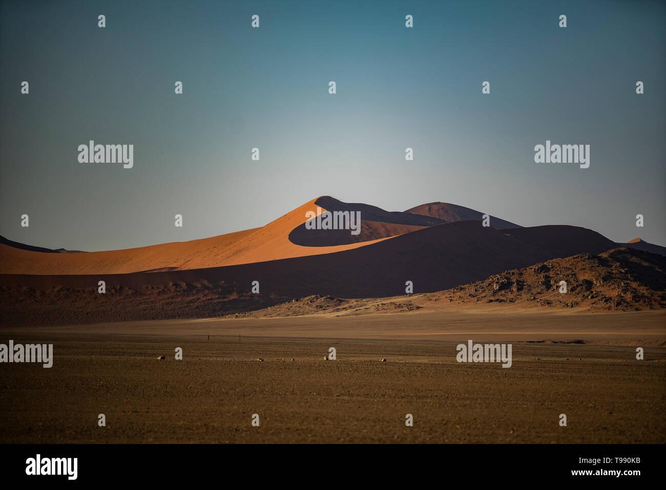 Le plus grand dans le monde, les dunes de Sossusvlei, Namibie, Afrique Banque D'Images