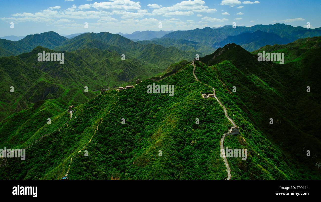 Grande Muraille de Chine, Beijing, Chine Banque D'Images