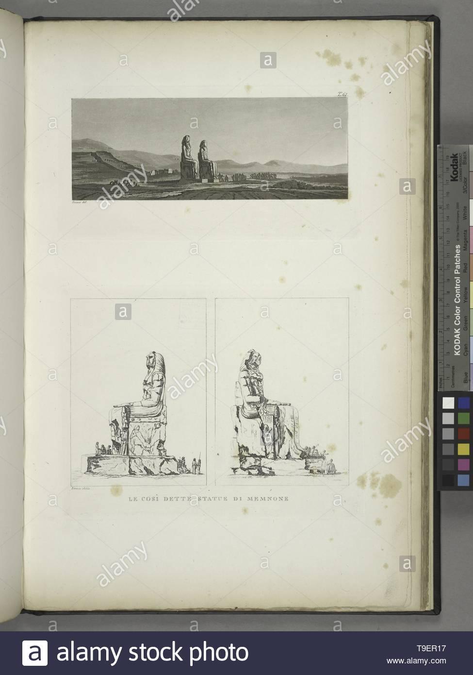 Domenico-Le sådanne Valeriani,così statue di Memnone Photo Stock