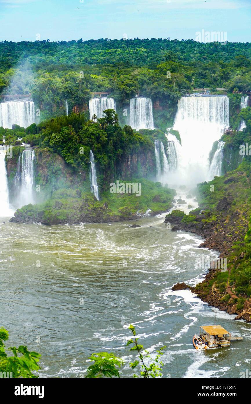 Iguazu Falls View de l'Argentine Banque D'Images