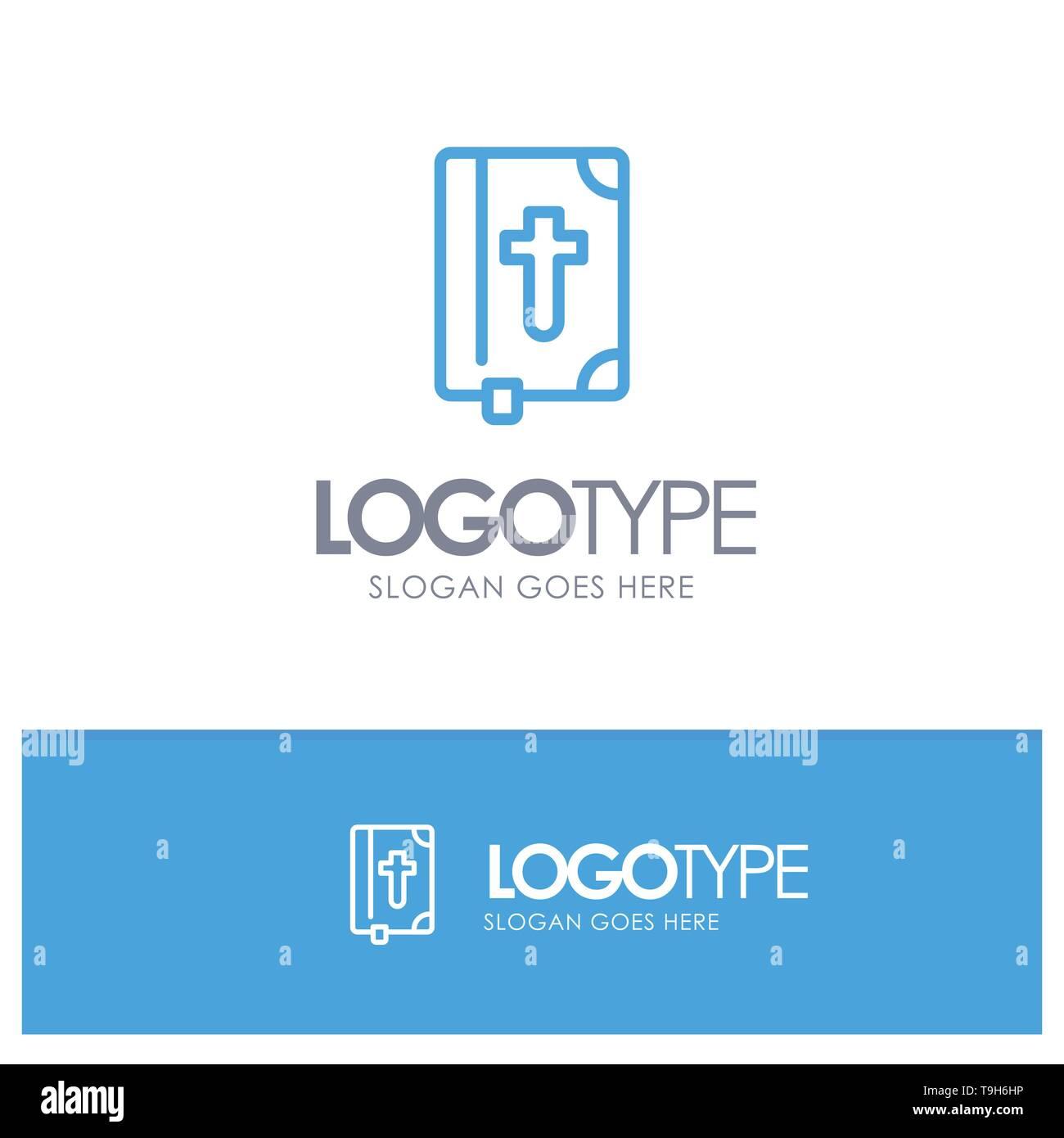 Livre Bible Paques Maison De Contour Bleu Logo Pour