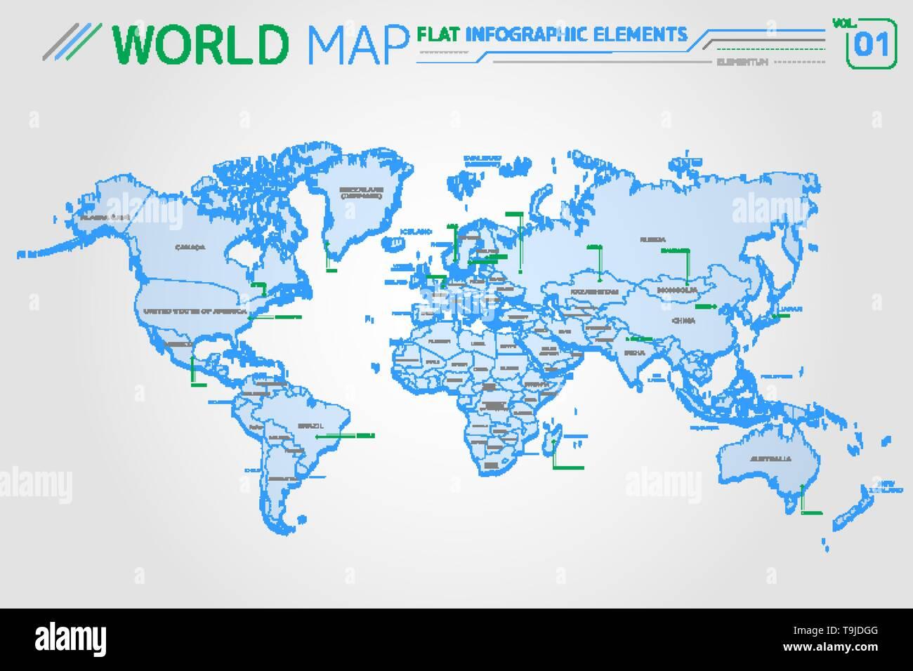Carte Australie Sur Europe.L Amerique Du Nord Et Du Sud Asie Afrique Europe