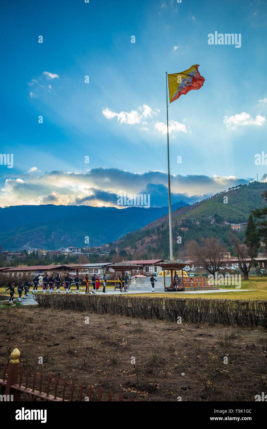 Thimphu, Bhoutan - Janvier 5th, 2017 Photo Stock