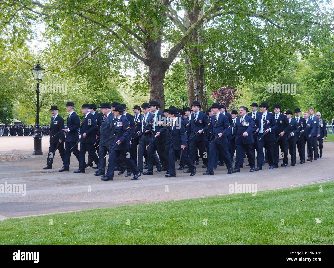 Londres, Angleterre, Royaume-uni- 12 mai 2019: 94e défilé annuel de l'Association anciens camarades de cavalerie dans Hyde Park Londres Photo Stock