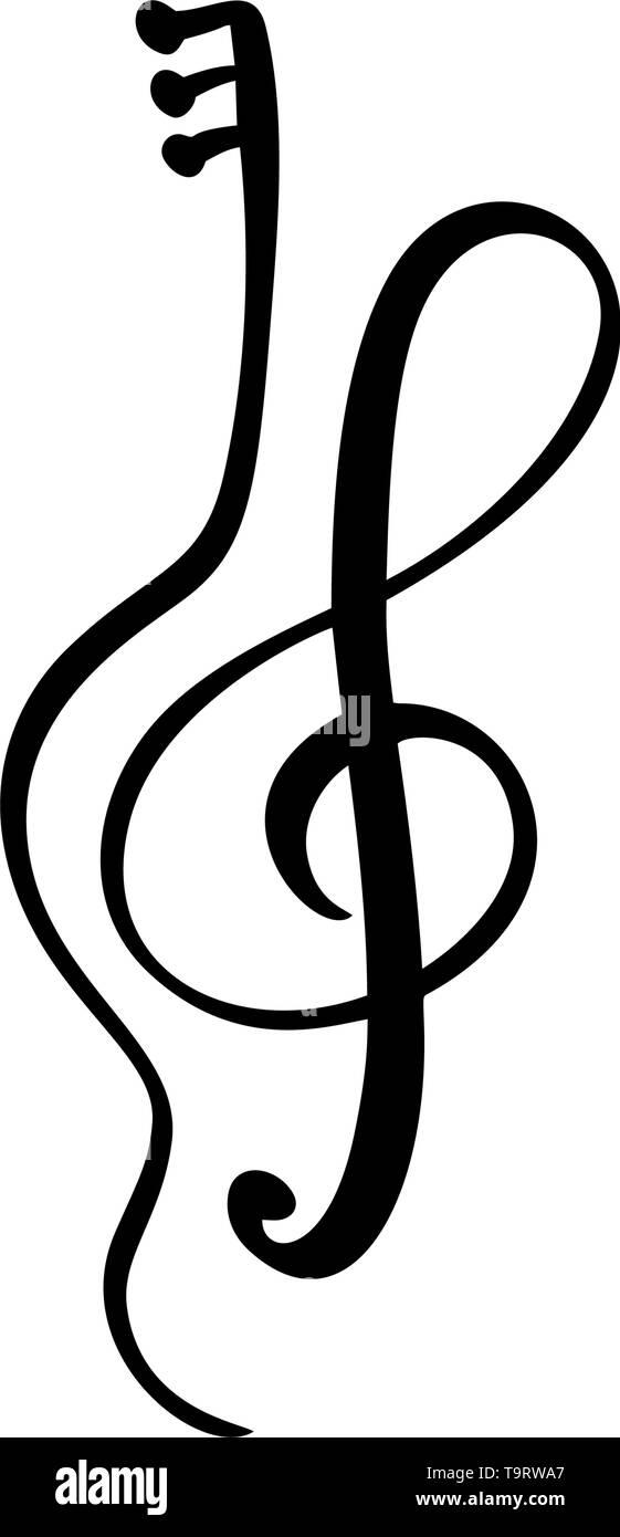 Violon Guitare Et Cle De Sol Cle De Musique Abstract Hand