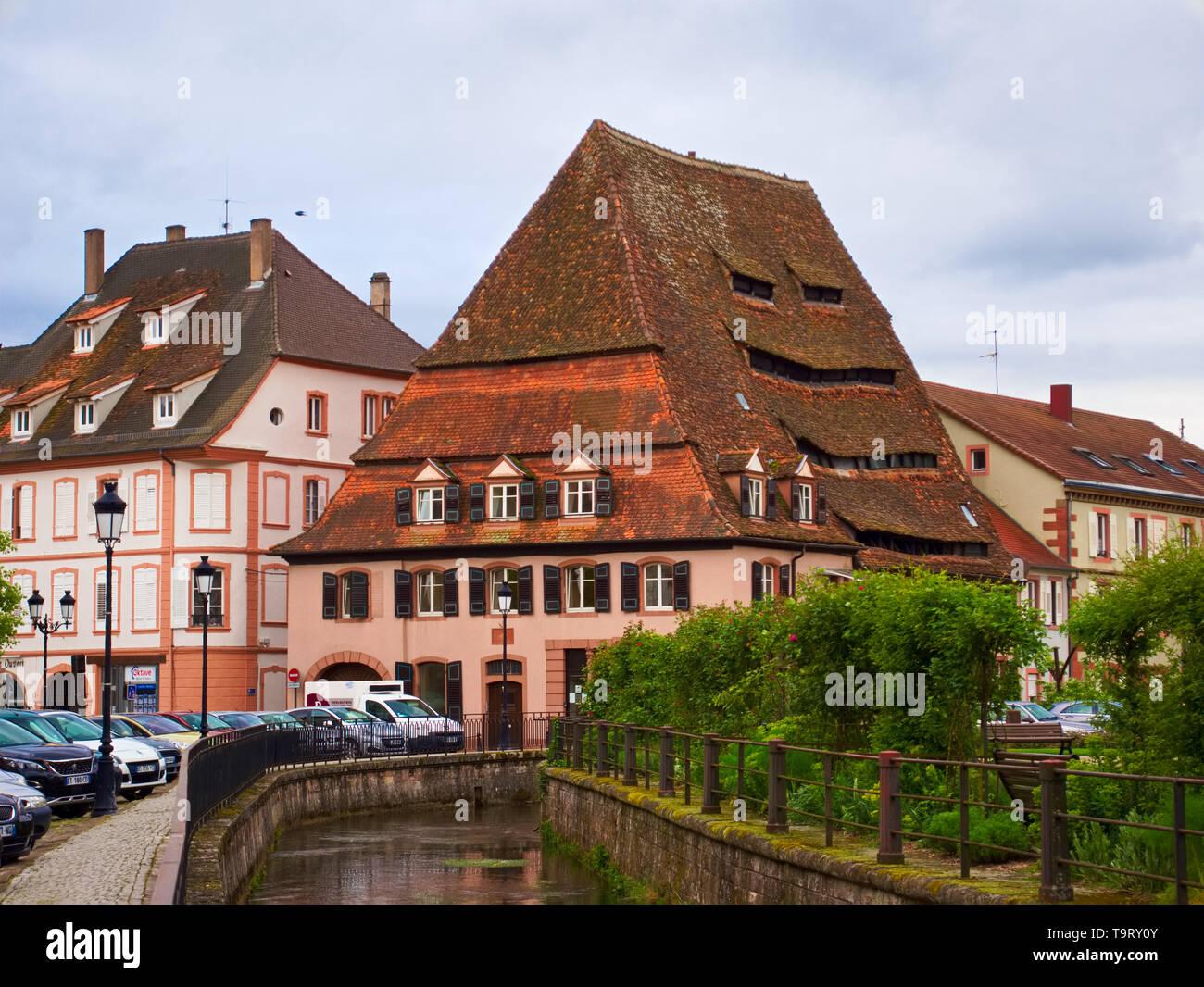 Maison du sel à Wissembourg Photo Stock