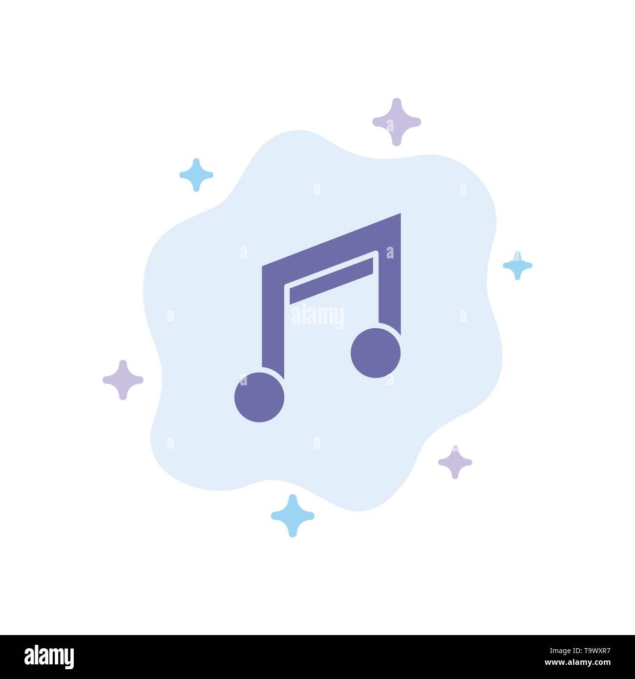 App, Basic, Design, Mobile, Music'icône bleue sur fond de nuage abstrait Illustration de Vecteur