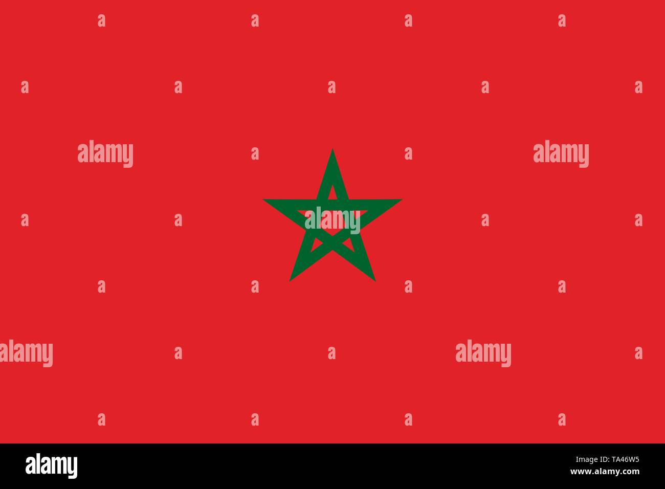 Nouveauté maroc marocain drapeau pays national photo aimant de réfrigérateur.