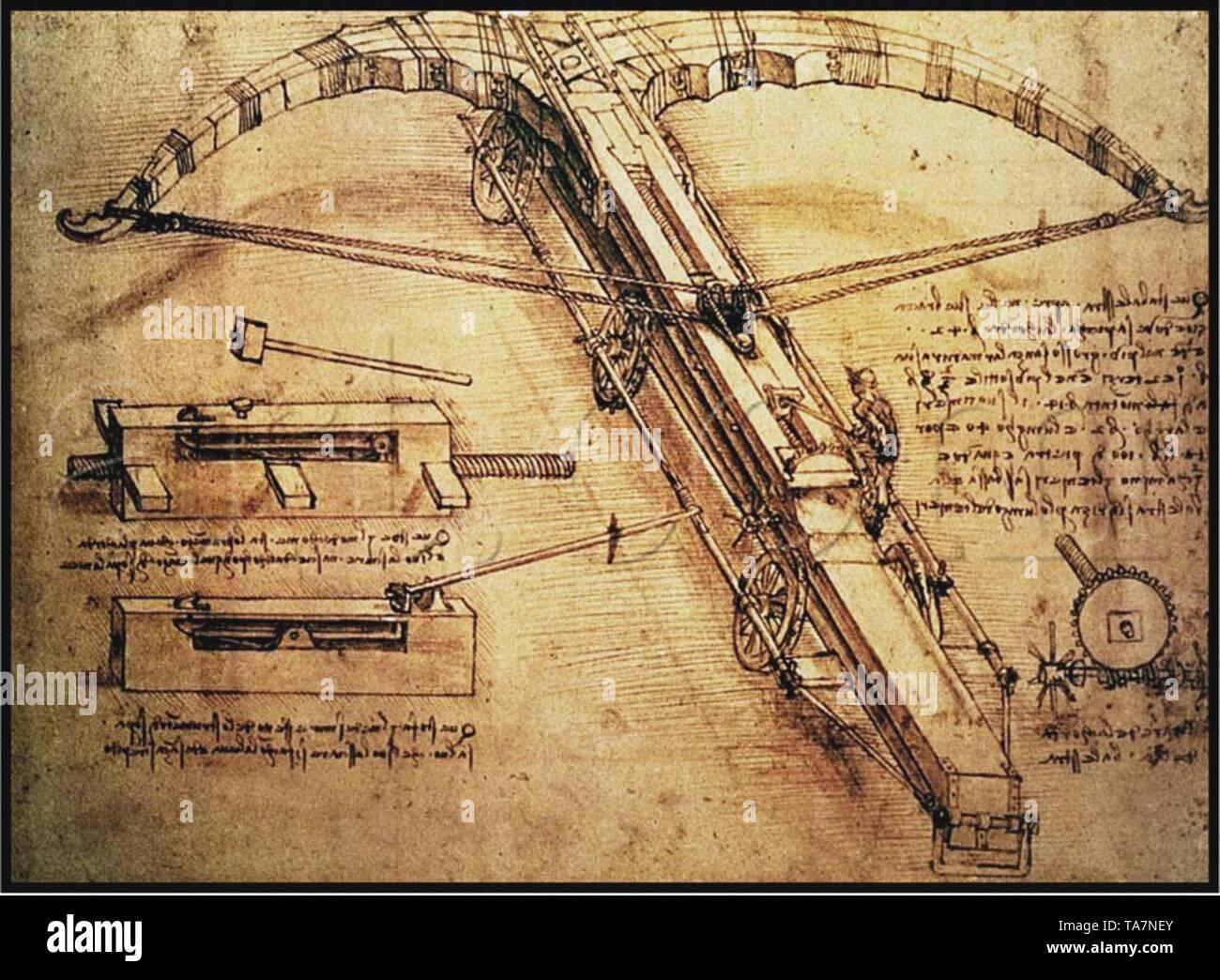 Leonardo Da Vinci art vintage Banque D'Images