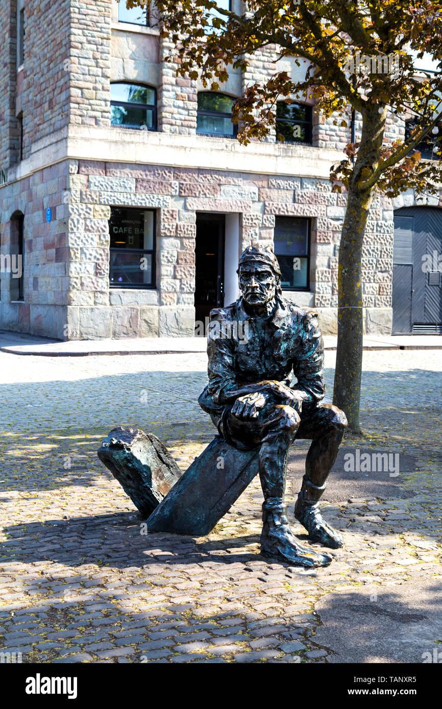 Sculpture de Jean Cabot par Stephen Joyce, Narrow Quay, Bristol, Royaume-Uni Banque D'Images