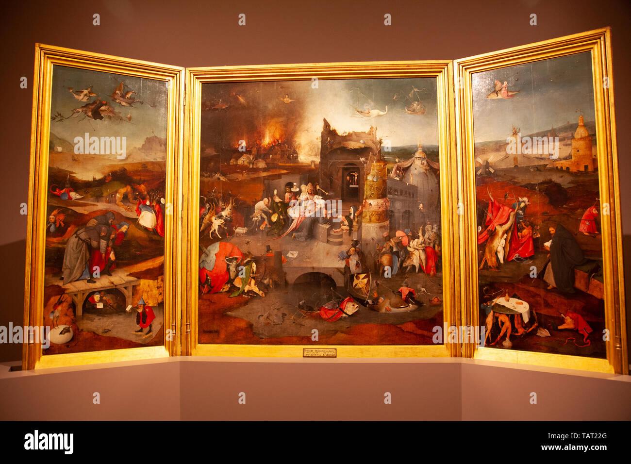 La Tentation de Saint Antoine au Museu Nacional de Arte Antiga à Lisbonne, Portugal Photo Stock