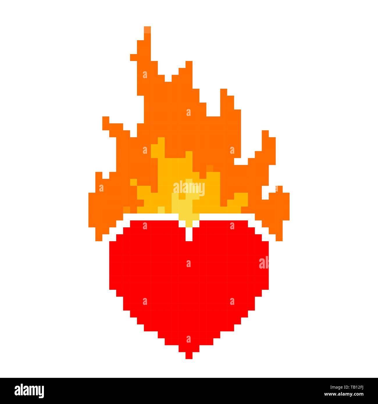 Fire Heart Illustration Photos Fire Heart Illustration