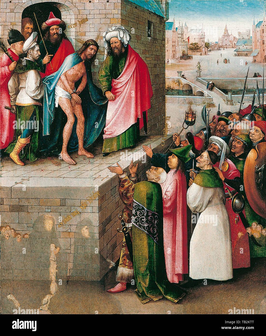 Jérôme Bosch, l'Ecce Homo, peinture, vers 1480 Photo Stock
