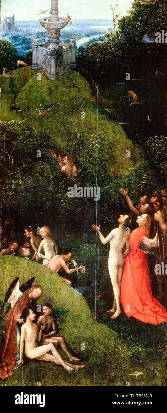 Jérôme Bosch, paradis terrestre, peinture, vers 1490 Photo Stock