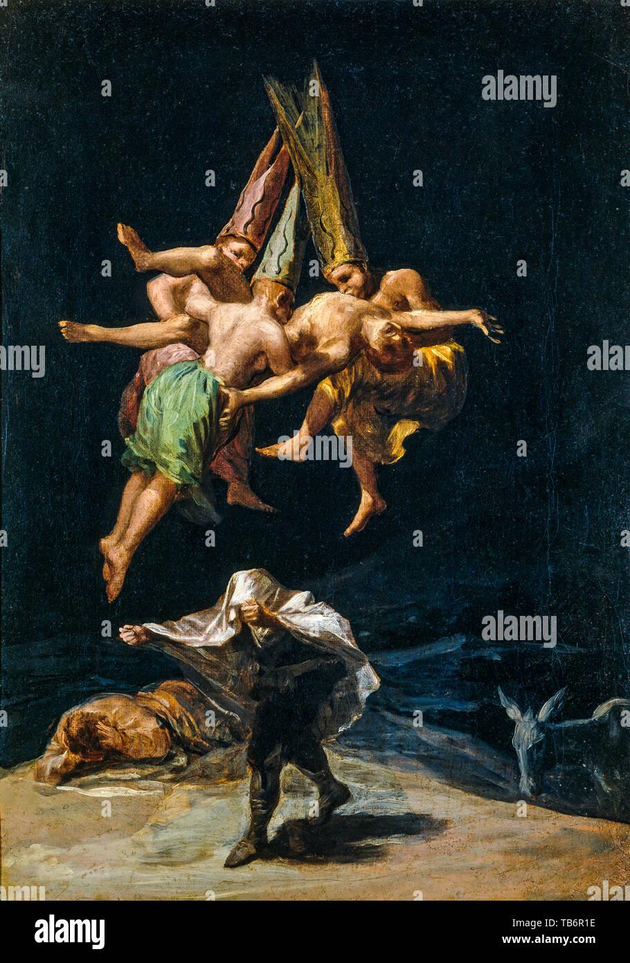 Francisco Goya Le Vol Des Sorcieres Peinture 1798 Photo Stock Alamy
