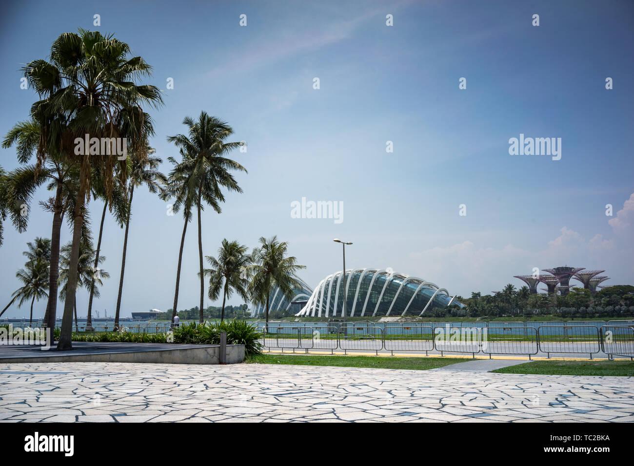 Le dôme de fleurs à Marina Bay à Singapour Banque D'Images