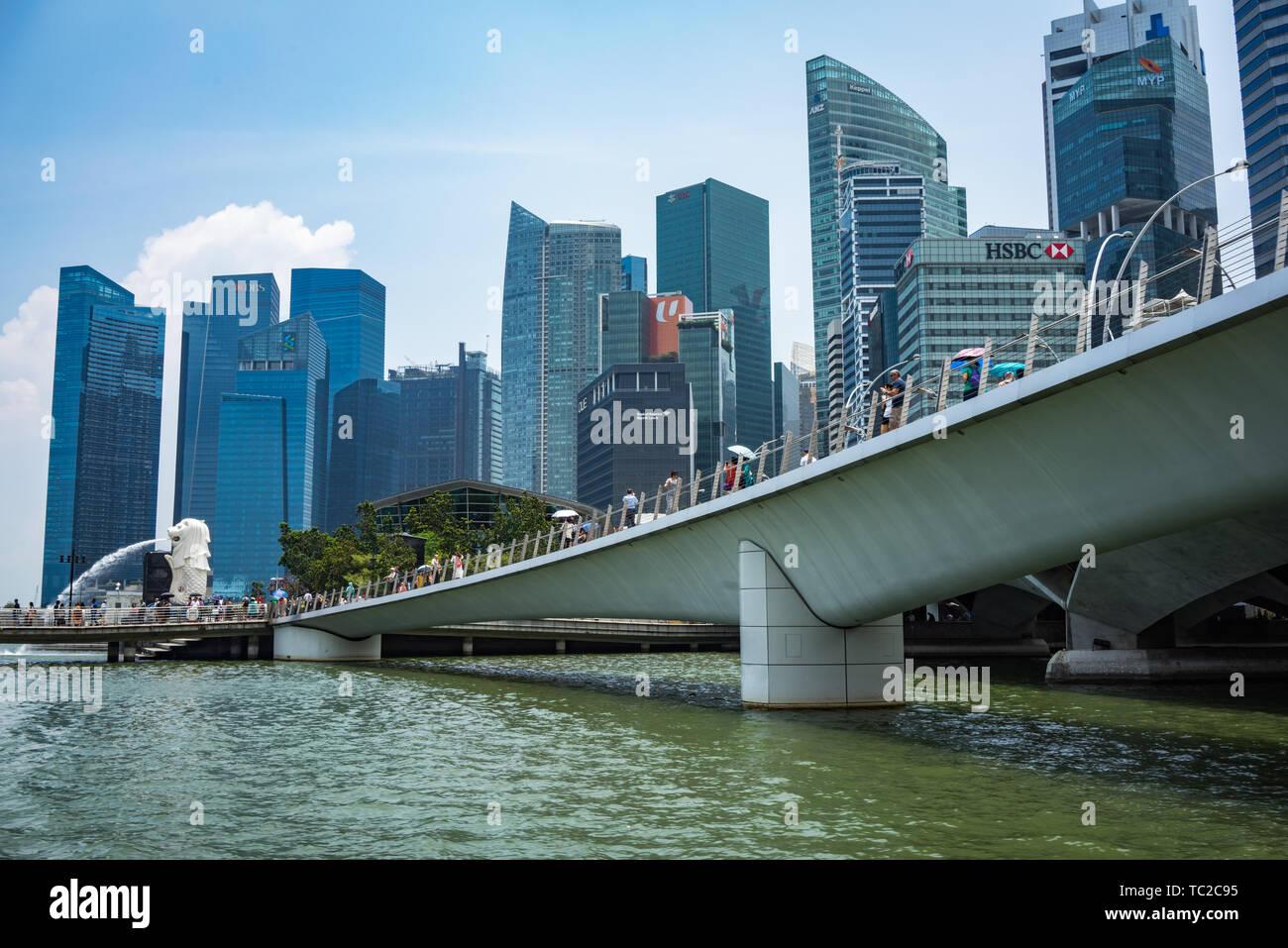Marina Bay à Singapour Banque D'Images