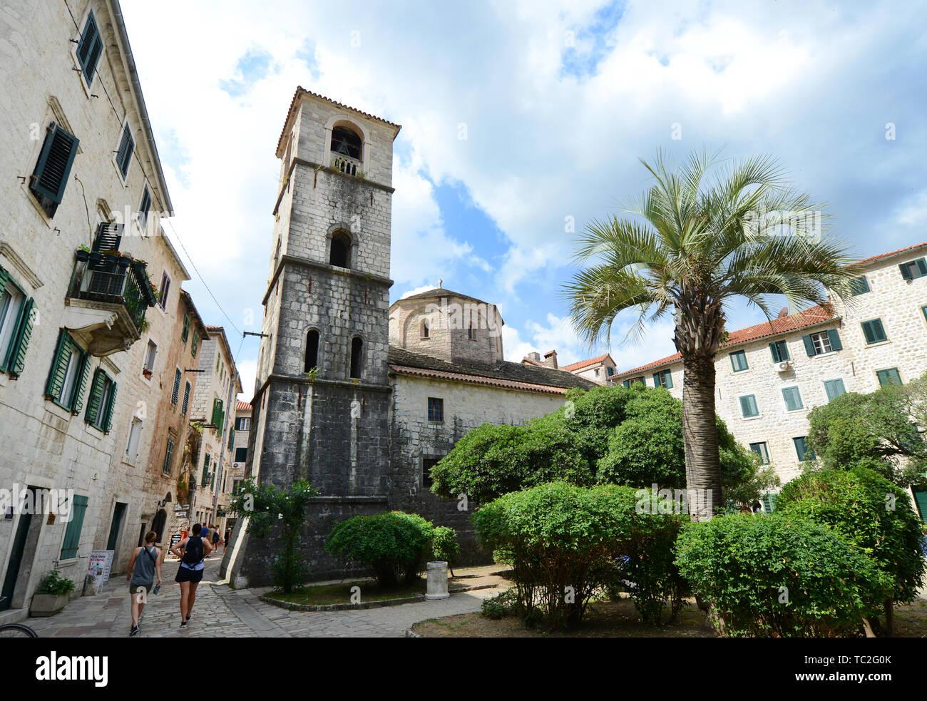 L'église de Sainte Marie de la rivière, dans la vieille ville de Kotor, Monténégro Banque D'Images