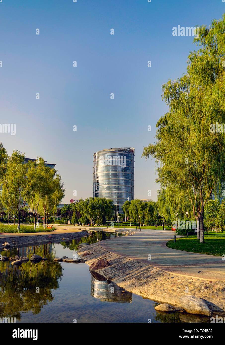 Le paysage architectural de la ville de Yinchuan Banque D'Images