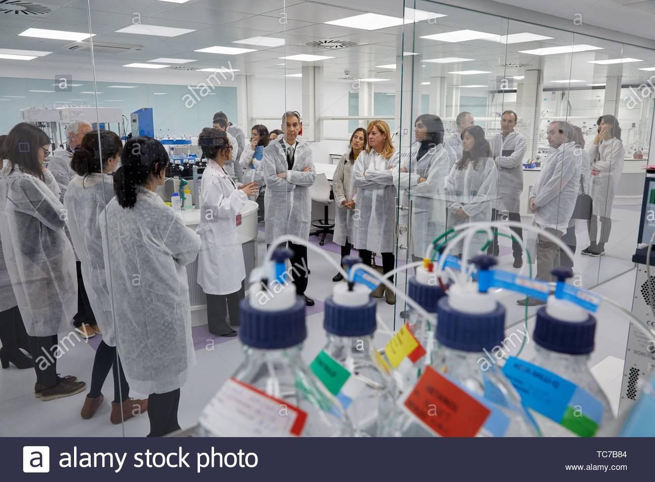Inauguration des nouveaux laboratoires de développement pharmaceutique, PHARMALABS BASQUE 4.0 Miñano, Alava, Pays Basque, Espagne, Europe Photo Stock