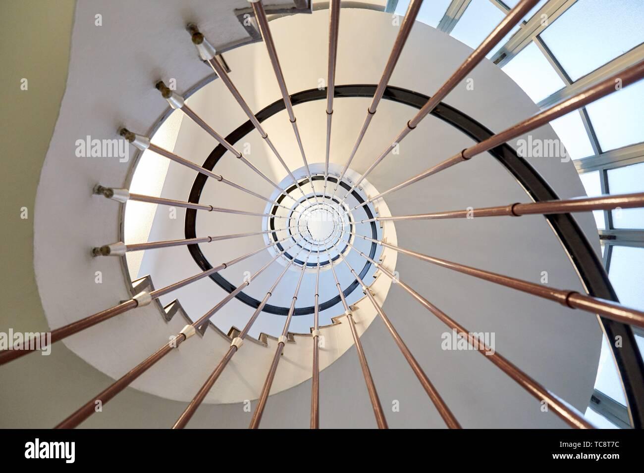 Escaliers, hôpital Donostia, San Sebastian, Gipuzkoa, Pays Basque, Espagne Photo Stock