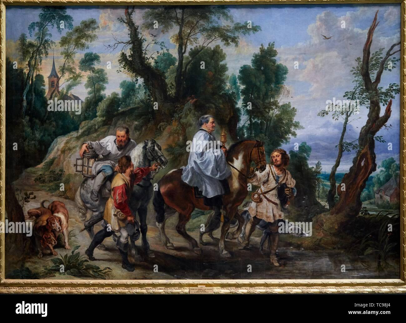 '''Acte de dévotion par Rudolf I de Habsburg'', 1625, Peter Paul Rubens, Musée du Prado, Madrid, Espagne, Europe Photo Stock