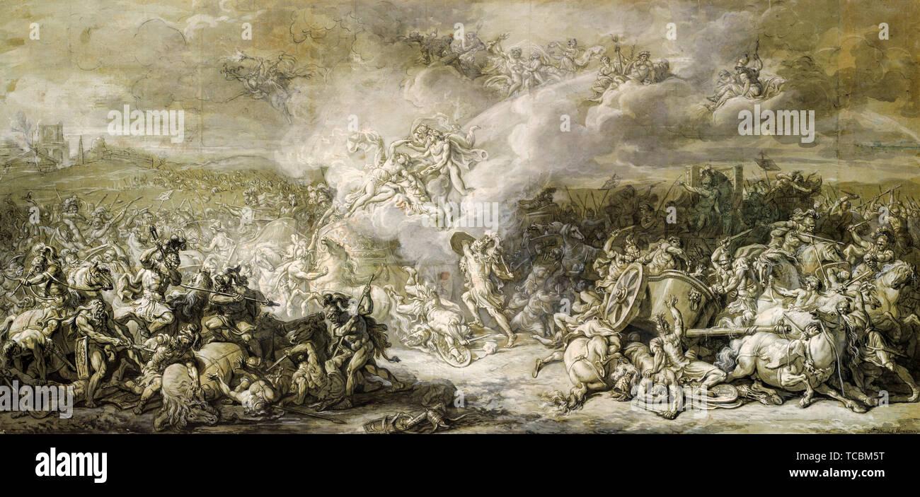 Jacques Louis David, le Combat de Diomède, peinture, 1776 Photo Stock