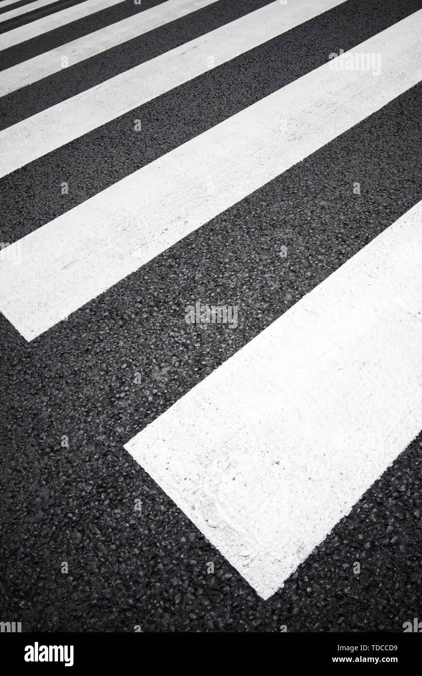 Passage piétons sans que personne le traversant. Photo Stock