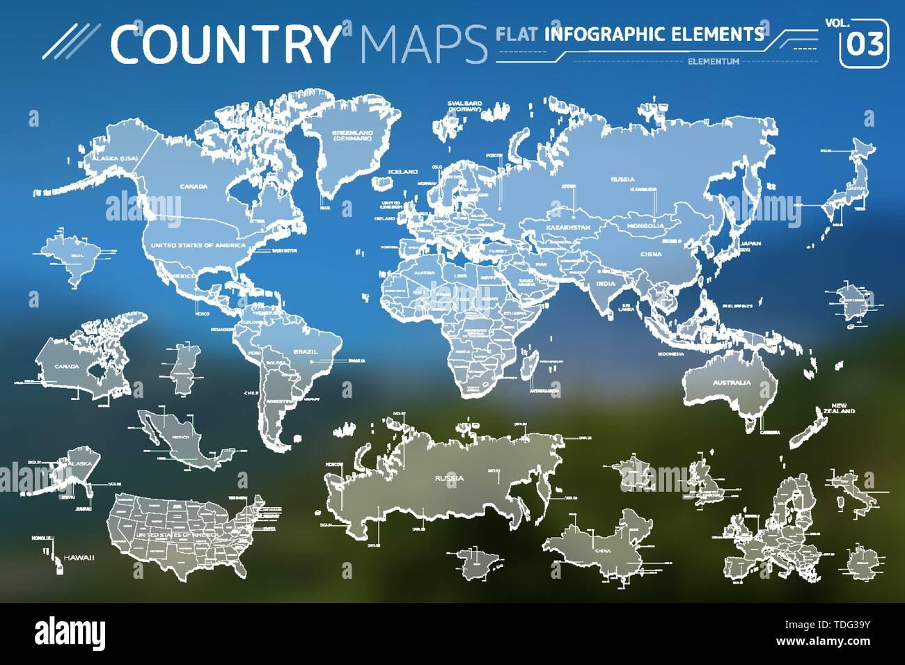 Carte Australie Canada.Amerique Latine Asie Afrique Europe Australie Canada