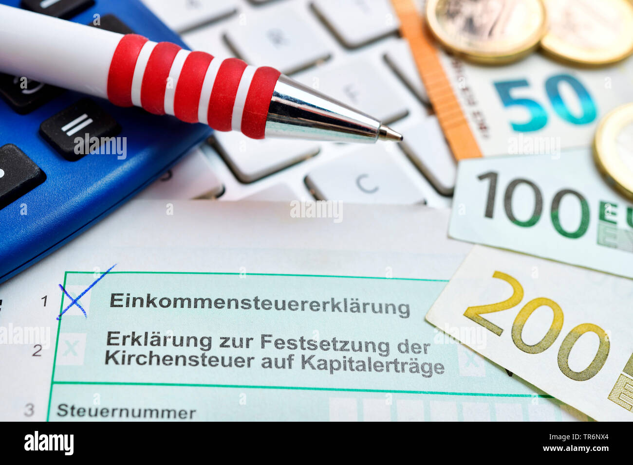 Photo symbole de revenus, Allemagne Photo Stock