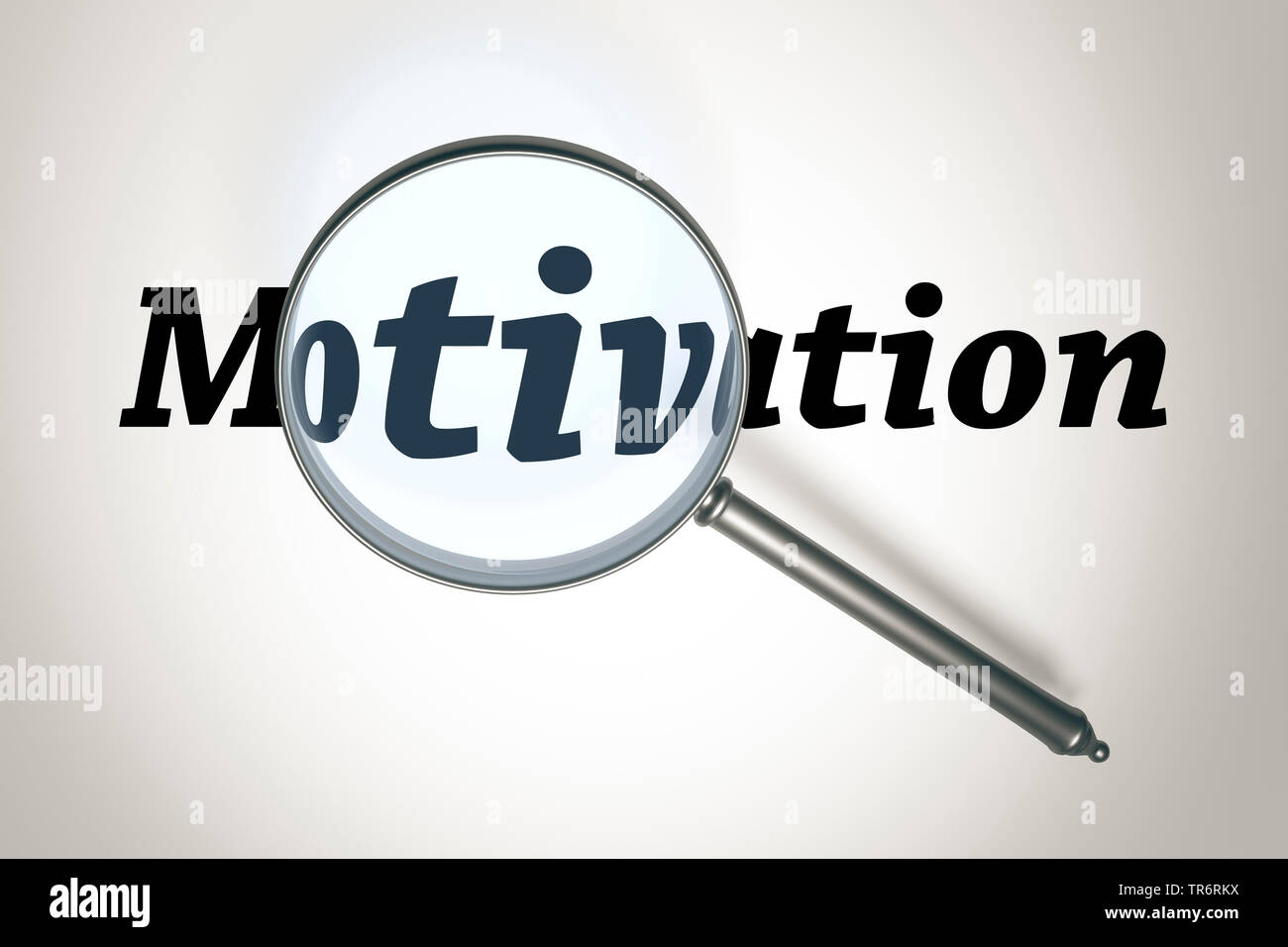 Lupe vergroessert das Wort la Motivation | loupe avec le mot Motivation | BLWS489732.jpg [ (c) blickwinkel/McPHOTO/M. Gann Tél. +49 (0)2302- Photo Stock