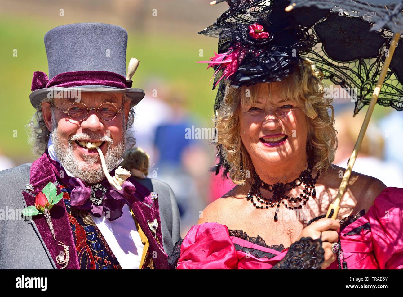 Rochester, Kent, UK. 1er juin 2019. Le premier jour de l'été Festival annuel Rochester Dickens. Deux festivals ont lieu chaque année en été et près de Noël, dans la ville avec de nombreuses connexions de Charles Dickens. Credit: PjrFoto/Alamy Live News Photo Stock