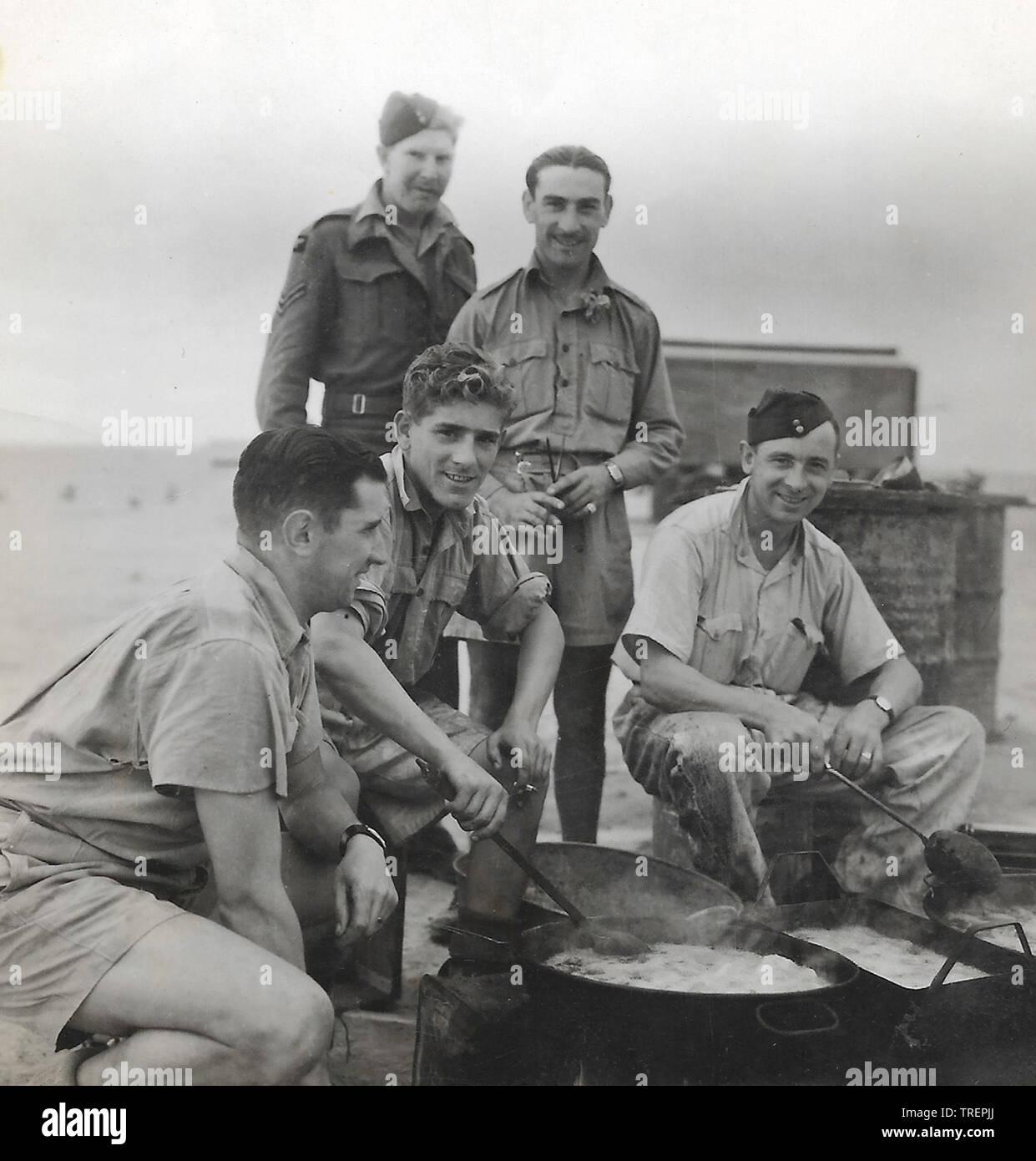 Alexandria le repas de midi. Prises en 1943/44 par Flt Sgt Gleed RAF WW2, de l'Escadron 223 Photo Stock