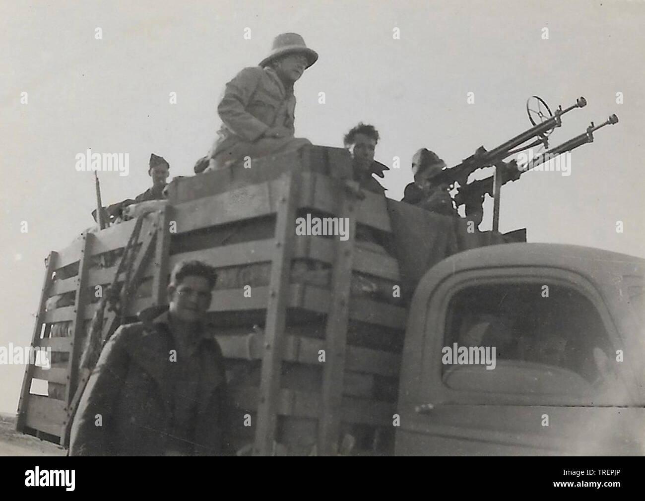 Convoi désert occidental. Prises en 1943/44 par Flt Sgt Gleed RAF WW2, de l'Escadron 223 Photo Stock
