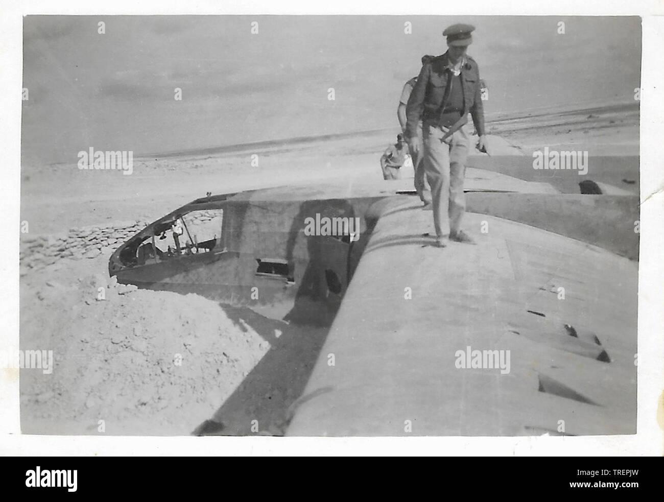 La récupération d'appareils écrasés au Soudan. Prises en 1943/44 par Flt Sgt Gleed RAF WW2, de l'Escadron 223 Photo Stock