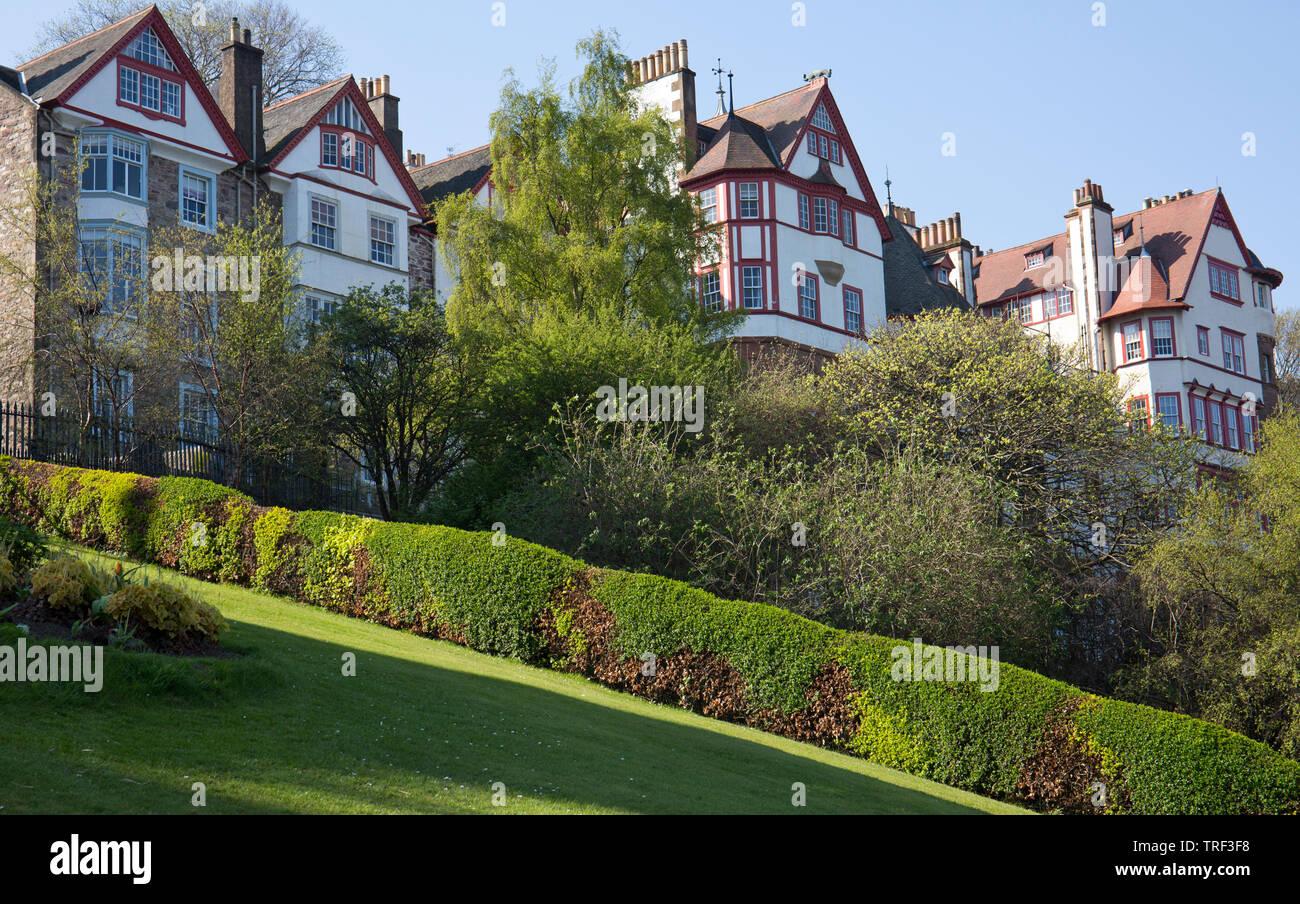 Ramsay Gardens, Édimbourg, Écosse, vieille ville Banque D'Images