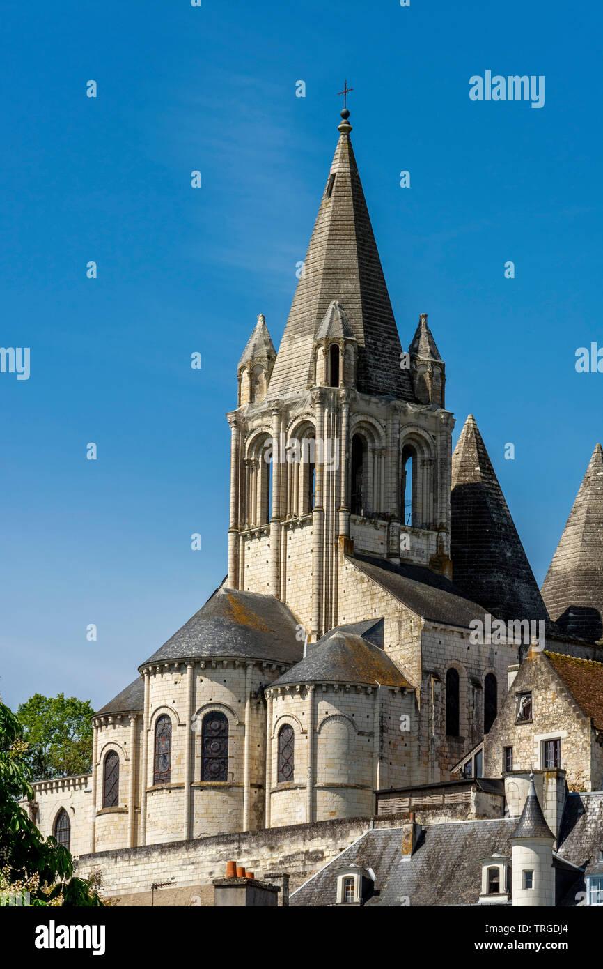 Collégiale Saint-Ours à cité royale de Loches, Indre et Loire, Centre Val de Loire, France Photo Stock