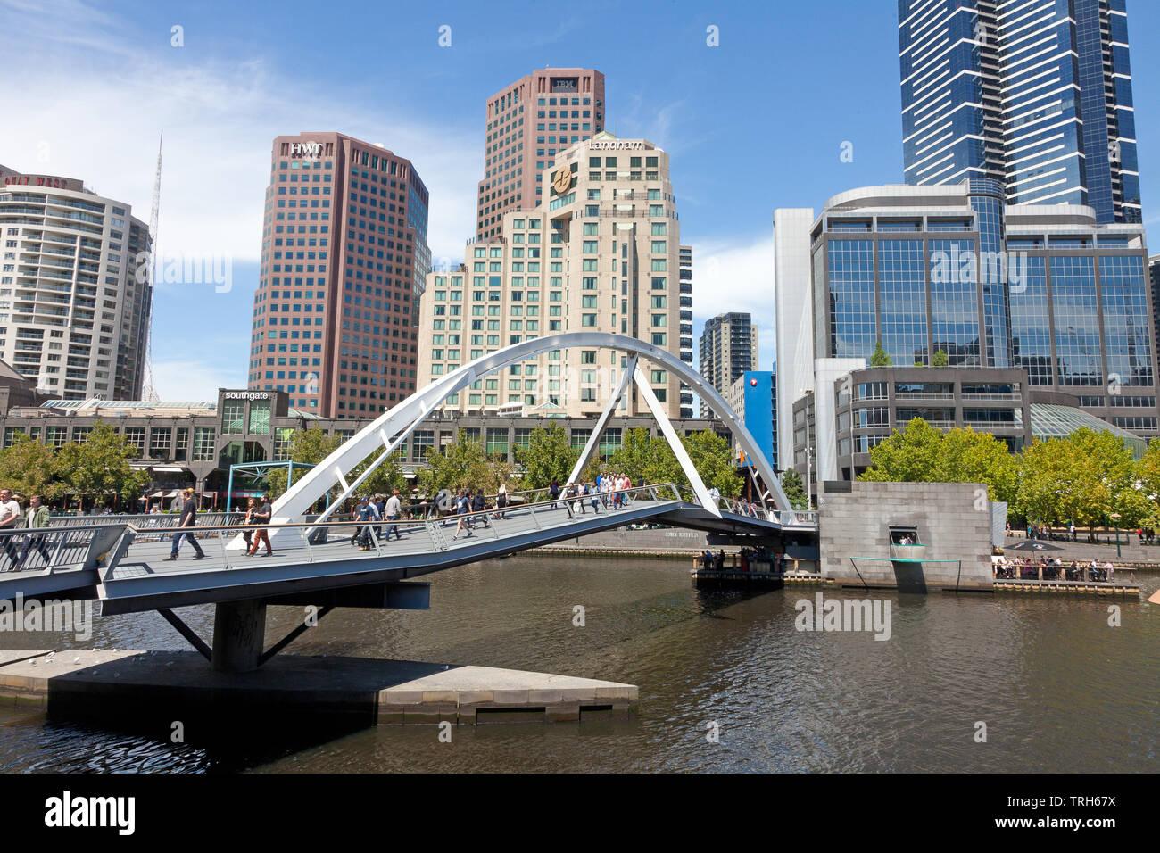 Evan Walker Bridge, Southbank, Melbourne, Victoria, Australie Banque D'Images